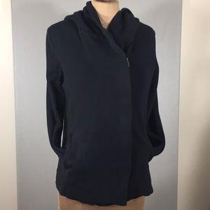 Standard James Perse Black Hooded Sweat Jacket Zip